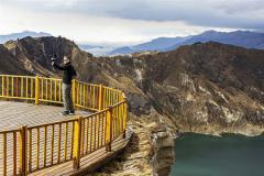 Photo Credit: Sebastian Crespo. Quilotoa volcanic crater, Ecuadorian Andes.