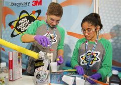 Finalists of the Young Scientist Challenge solve a problem through science.