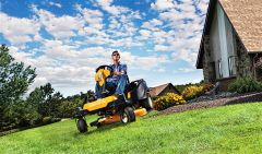 RZT-S Zero Cub Cadet lawn tractors are the world's only electric zero-turn rider with steering wheel control and four-wheel steering.