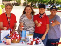 American Legion Auxiliary Unit 637 distributing poppies in front of Sam's Club in Citrus Heights. Left to right: Virginia Hicks - Treasurer, JoAnne Schuster - President, Sheila LaPolla, Teressa Schuster - Vice-President. 