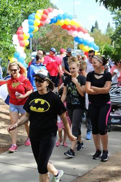 Five hundred local residents dressed as superheroes descended on Maidu Park in Roseville for Sacramento Life Center's Heroes Walk for Life in May. 