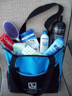 All donations must be new and in unopened packaging. Full-sized items are preferred, but Soroptimist International of Rancho Cordova & Gold River accept trial sizes.  --Photo courtesy Soroptimist International