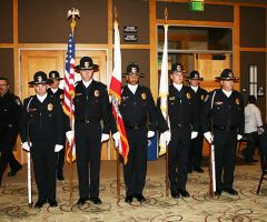 The Citrus Heights Police Department's honor guard participated in the department's observance of the tenth anniversary of its creation.