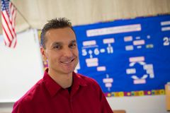 Andy Kotko of Mather Heights Elementary, teacher earns highest honor: Presidential Award for Excellence in Mathematics & Science Teaching.  --Photo by Folsom Cordova Unified School District staff