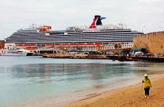 Carnival Vista docked in Rhodes.