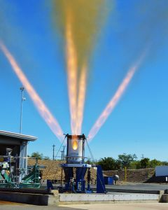 Third development jettison motor for NASA's Orion Launch Abort System fires for 1.5 seconds at Aerojet Rocketdyne's facility in Rancho Cordova, California.