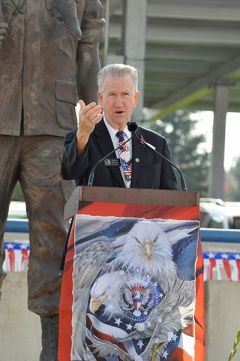 Bob McGarvey delivers his Veteran's Day Speech. 