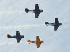 A flyover was conducted by the Vultures Row Aviation Team.  --Photo by Rick Sloan