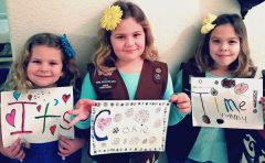 The five skills that participating in Girl Scouts build in future Girl Leaders are; goal setting, decision making, money management, people skills and business ethics.  --Photo courtesy of Girls Scouts of America
