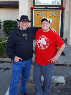 Owner and founder Don Troutman, left, with Rik, a resident at Clean and Sober Transitional Living.  Begun in 1989, based in Fair Oaks, the now 14 homes and 120-plus residents of Clean and Sober Transitional Living represent the oldest and largest transitional living community in Northern California.