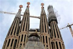 Antoni Gaudi's magnum opus, the Sagrada Familia, is Barcelona