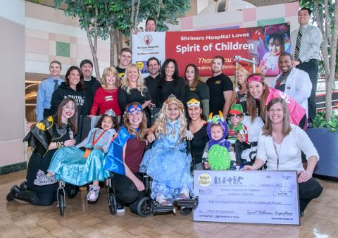 spirit halloween employees raise over 40000 to support shriners hospital