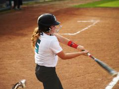 Catcher Gabby Fruciano had an RBI single and played great defense behind the plate.