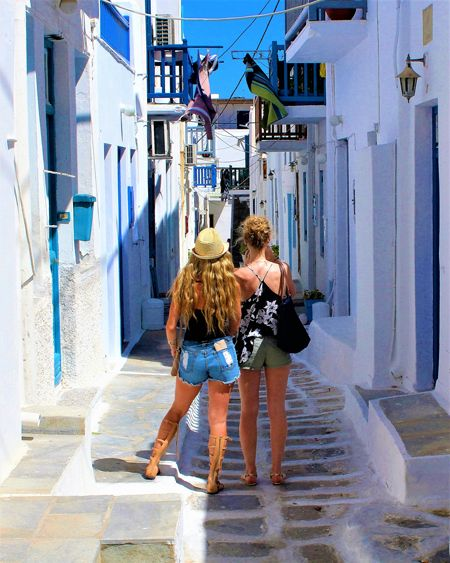 Mykonos and its maze-like street system make getting lost delightful. 