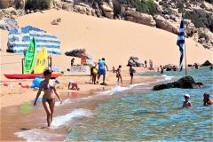Tsambika Beach has the right amount of people and services in Rhodes. 