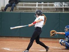 Catcher Gaby Friuciano had four hits on Saturday.