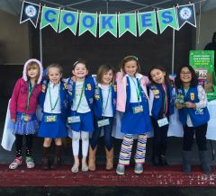The sale of cookies as a way to finance troop activities began in 1917, five years after Juliette Gordon Low started Girl Scouts in the United States, when the Mistletoe Troop in Muskogee, Oklahoma, baked cookies and sold them in its high school cafeteria as a service project. 