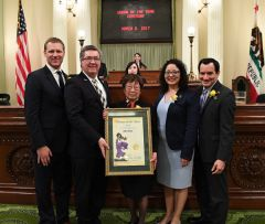 """Kiyo has shown tremendous courage and perseverance through her entire life and I am truly honored to see her recognized at the State Capitol for all of her extraordinary achievements,"" said Assemblyman Ken Cooley. 