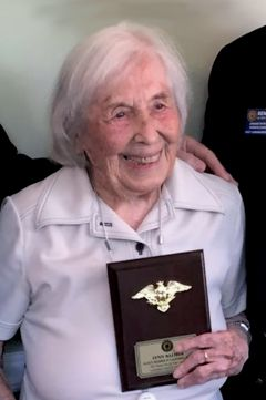 Centenarian, Lieutenant Lynn Balmer. Photo Courtesy: Brenda Sheriff, President American Legion Auxiliary Unit 637, Citrus Heights, CA.