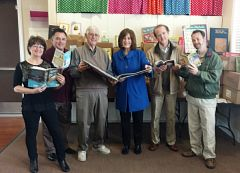 From left to right: Citrus Heights Chamber of Commerce Education Commit-tee Chair Rosa Umbach, chamber Executive Director Mark Creffield, Reads program co-founders Jim Riemann and County Supervisor Sue Frost, Barnes & Noble representatives Mike Troyan and Ron Roberts.