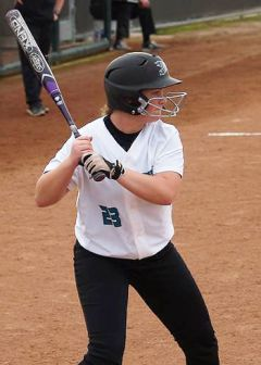McKenna Rickles leads the Falcons with a .392 batting average.