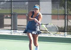 Abriana Rowe won in singles as well as doubles in the victory over Santa Rosa.