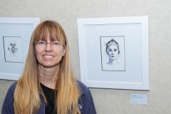 """Ann Greitzer used pen and ink to create these portraits. """"Make time for (your art),"""" Greitzer advises those who want to create. """"Draw something every day and look forward to it as a form of meditation, a relaxation.""""  -- Photo by Jose Lopez"""
