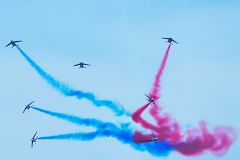 The pilots of the Patrouille de France perform a variety of highly technical maneuvers during their breathtaking aerial shows. 