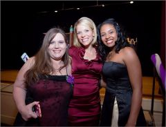 Women's Empowerment graduates celebrate with Eileen Javora from KCRA3 at the organization's 15th Anniversary Gala last year. The event raised $200,000 to help Sacramento homeless women find homes and jobs.  -- Photo by Dylan Tyagi