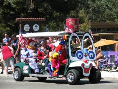 "You can plan your float or parade entry so you can ""Clown Around"" with friends and neighbors in the annual parade. 