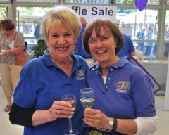 Linda Martin (L) Donna Miller (R) and the rest of the Carmichael Kiwanis Club's team invite everyone out to this year's Taste of Carmichael for great food and great fun. There will be plenty of wonderful foods and desserts, along with wine and drinks. (See how to purchase tickets at the end of the story.)  -- Staff photo.