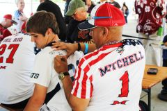 Colonel Mitchell signing Ethan