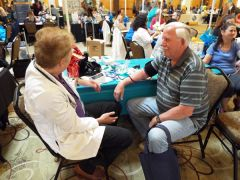 Blood pressure screening and consultation was provided by Walgreen
