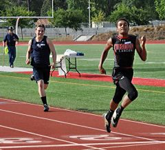 Andrew Roberts took fourth place in the 400-meter dash with a time of 53.19 seconds. 