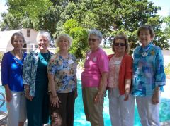 Left to Right: Betty Wall, Marietta Gonzales, JoAnn Cookman, Barbara Vineyard, Barbara Mortkowitz, Sharon Donaldson. (Not pictured, Julie Stringham)  -- Photo courtesy of Sierra College Patrons.