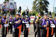 Citrus Heights Marching Band presents, beaming with civic pride. 