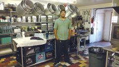 William Magana, a recent graduate of Union Gospel Mission's Drug and Alcohol Rehabilitation Program, now works onsite as the kitchen intern.