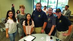 Pictured left to right: Interns Shushanik Paskevichyan, Max Vityk, Zoey Gabay, Code Enforcement Officer Keith Boucher, Management Technician Jessica Crone, and Animal Services Officer Krystle Judish. Photo courtesy City of Rancho Cordova.