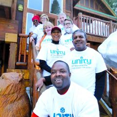 Rev. Kev. (front and center) leads the capable group of board of directors. Photo courtesy Unity of Sacramento