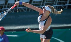 Amanda Anisimova (in action above) earns The Challenger win. Photo courtesy GRRC.