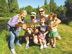 The entire family can enjoy the free fishing day. Photo courtesy CDFW