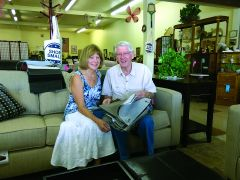 David and Judy Fleege, owners of Twice As Nice Furniture. Photo by Paul Scholl