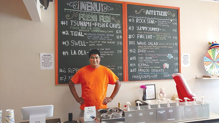 Wave Fish and Chips: Owner Daniel Dondov