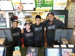 Wing Stop: The staff at Wing Stop are all smiles since their recent opening.