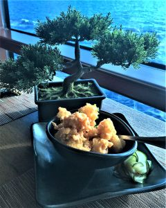 The flavorful rock shrimp tempura is a winning dish at Silk Harvest specialty restaurant. Photo by David Dickstein