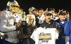 Athletic Director at Del Campo High School Sharon Props said she is proud of Del Campo's football team. Photo courtesy SJUSD