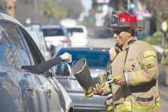 Firefighters accepting donations during a previous Fill the Boot fundraiser. Funds raised help adult and children burn victims recover from their injuries and move on with their lives. 