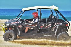 Go wild off-roading on beach, desert and mountain terrain in a Polaris RZR. Photo by David Dickstein