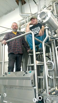 Simon Olney, left, and Jim Harte, co-founders of Ol' Republic Brewery and Tap House in Nevada City, are preparing for a spring opening of their second location in Rancho's Barrel District.