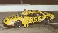 Rick Scribner poses with his #15. Photo courtesy NCAR